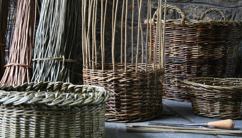 Willow Basket Weaving Somerset : Somerset summer work willow basket making hauser wirth